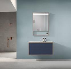 Design simples e personalizados para montagem na parede de banho de contraplacado de armário de toucador 1901