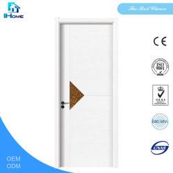 Qualidade superior de dois painéis interiores de porta de madeira de pinho sólido com acabamento em verniz transparente