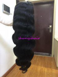 Haar-Perücken zupften vor 360 Spitze-vordere Perücke-brasilianisches Karosserien-Wellen-Menschenhaar-Perücken Remy Haar