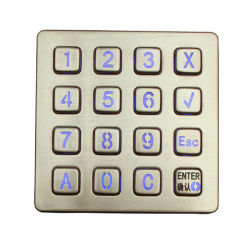 الصين رفع [ستينلسّ ستيل] مفتاح يضاء [4إكس4] لوحة أرقام
