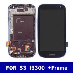 Het mobiele LCD van de Telefoon Scherm van de Vertoning voor de Toebehoren van de Telefoon van de Delen van de Reparatie van het Frame van de Assemblage van de Becijferaar van het Comité van het Scherm van de Aanraking GT-I9301 I9308 TFT van de Melkweg S3 I9300 van Samsung