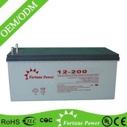 Batterie profonde del ciclo del AGM della batteria 12V 200ah della casa del sistema del comitato solare