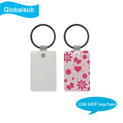 De persoonlijke Lege Giften van de Decoratie Keychain van de Sublimatie USB