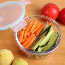 Mikrowellen-brauchbarer Mittagessen-Kasten-Nahrungsmittelglasfilterglocke-Behälter Gv301 des Ofen-620ml