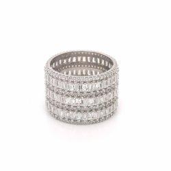 925 فضة [ك] نوع ذهب نمو حلقة مجوهرات