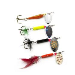 La pêche Lure Spinner cuillère appât Jig Lure avec plume et Treble Hook Pêche