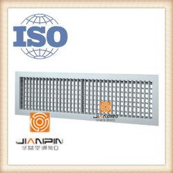 Doble difusor de aire de plástico de deflexión de la rejilla de aire rejilla de aire para piezas de HVAC