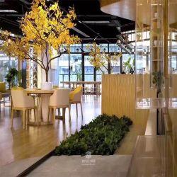 새로운 큰 인공적인 은행나무 나무 인공적인 플랜트 인공 꽃