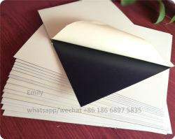 Van Photobook Materieel 0.5mm van de Plastic Film van het Masker van het document Bilateraal Zelfklevend Wit Zwart Schuim Stijf pvc- Blad voor het Album van de Foto