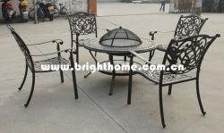 Gegoten aluminium set met barbecue-meubels voor buiten