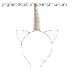 Design simples pano macio e Metal Bonitinha Cat Ear Unicorn ajustável para as meninas do bebé