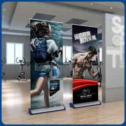 Prix de gros Aluminium Wide Base Banner Stand Roll up Stand pour publicité extérieure
