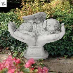 Mano del dio esterno della statua e la sua scultura Mfsy-86 del marmo del cucciolo