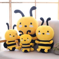 De nouveaux styles de somptueux jouet en peluche adorable abeille à miel doux