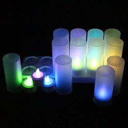 Material ABS Reachargeable té velas LED de luz 12pzas