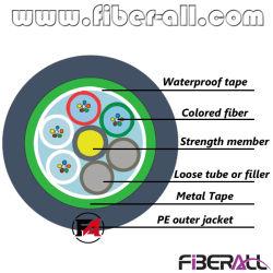 48 tubo allentato incagliato esterno del cavo ottico della fibra delle fibre GYTS/GYTA