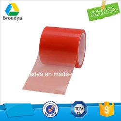150mic прозрачного красного пленки ПЭТ/полиэстер двухсторонней липкой ленты (В6967)