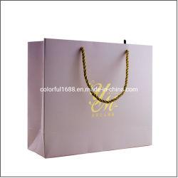 Votre logo personnalisé Papier de l'art de l'emballage cadeau promotionnel sac pour le vêtement et de produits cosmétiques