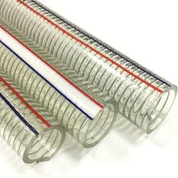 Tubo Flessibile Di Mandata Rinforzato Con Filo In Acciaio Per Tubi A Spirale In Pvc Per Acqua Trasparente Per Uso Industriale