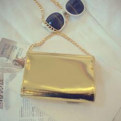 Brilhantes Prata Couro Pu&Gold mala