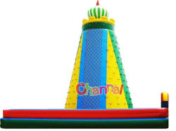 Platón 0.55mm PVC inflable del arco iris pared de escalada para adultos y niños Uso