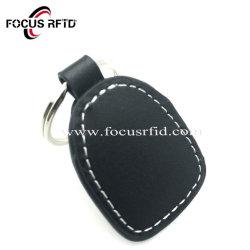 Material de cuero Llavero RFID con Fudan Classic 1K para Control de acceso