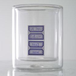 De goede het Drinken van de Muur van de Luxe van de Leverancier Dubbele Koppen/de Mokken van het Glas van het Glaswerk