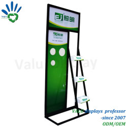Supermarkt Floor Standing Metal Led Light Lamp Display Stand