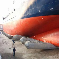 De mariene Redding Aan de grond gezete RubberLuchtkussens van het Schip voor de Scheepswerf van Indonesië