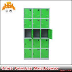 Buntes 15 Tür-Fach-Stahlstab-Schrank-Metalschließfach