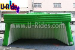 Stade de la publicité de plein air gonflables tente couvercle vert pour l'événement