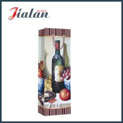 Papier couché de promotion de gros imprimés Bouteille de vin sac de papier cadeau
