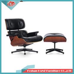 Moderner Entwurfs-Sofa-Aufenthaltsraum-Wohnzimmer-Möbel-Leder Vita Eames Stuhl mit Osmanen