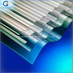High Light Transmission Corrugated Polycarbonate Sheet Used for Swimming Pool