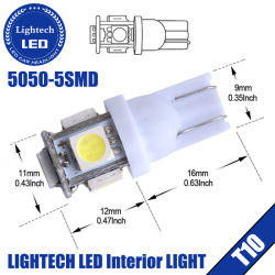 Top Verkäufer High Lumen Epistar DC12/24V W5w T10 5050 5SMD LED Auto Birne Rot/Weiß/Gelb Factory Wholesale