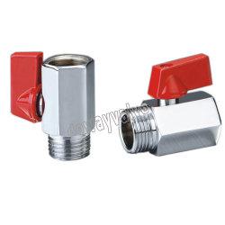 Pn16 Mini латунный шаровой клапан M/F