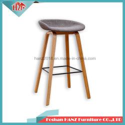 직물 건초 바 의자 나무로 되는 바 의자를 가진 좋은 품질 대중음식점 가구 여가 의자 발판