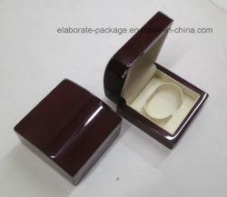 Glatter hölzerner Armband-Uhr-Kasten-Schmucksache-Armband-Verpackungs-Mahagonikasten