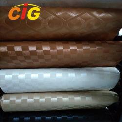 Étanche anti - Mildiou lavés fini en cuir gaufré de PVC
