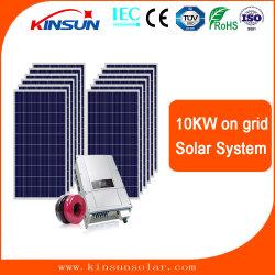 لوحة شمسية ضوئية عالية الكفاءة على الشبكة بقدرة 10 كيلو واط للطاقة الشمسية المنزلية النظام