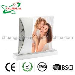 Le tableau horloge avec alarme numérique Photo Frame pour cadeau de promotion