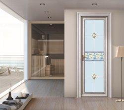 Insonorisées étanche en aluminium de couleur à battants moderne en bois Portes intérieures pour salle de bain WC YG-T002