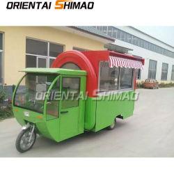 Concessie China van de Amerikaans-stijl maakte tot Kebab de Ingesloten Kar Met drie wielen van het Voedsel