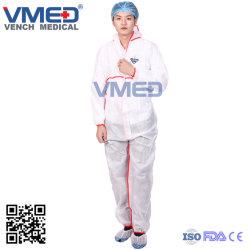 Tipo de material impermeável 5/6 Standard vestuário descartável microporosa médica fato-macaco com capuz, Químico /Indústria Laboratório // Segurança fato-macaco microporosa