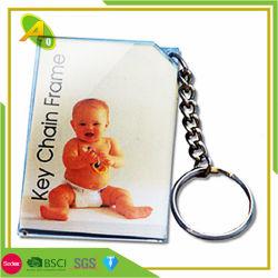 Photo de bébé personnalisé à bas prix promotionnel trame clé acrylique la chaîne (014)
