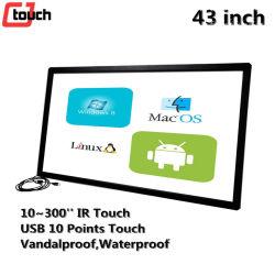Moniteur LCD 43inch Tableau Blanc Interactif ordinateur Android TV écran tactile capacitif de panneaux IR INFRAROUGE