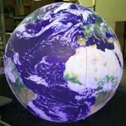 지구 광고를 위한 LED 점화를 가진 팽창식 세계 지도 풍선