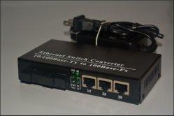 2 порта SFP с 3 разъемами RJ45 Ethnert портов Fibre переключатель