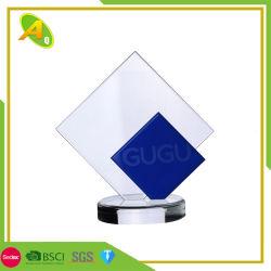 Échantillon gratuit bon cadeau de cristal de résine acrylique Trophée en verre avec du métal Étoile trophée (090)