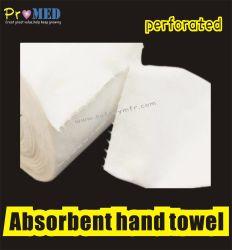 Авиакомпания СПА СЕДАН поглощают/впитывающей мягкой древесной массы бумага перфорированная Spunlace Спанбонд одноразовые полотенца в рулон